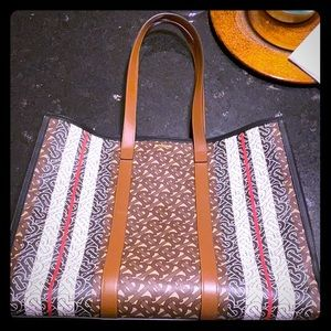 Burberry Monogram stripe tote